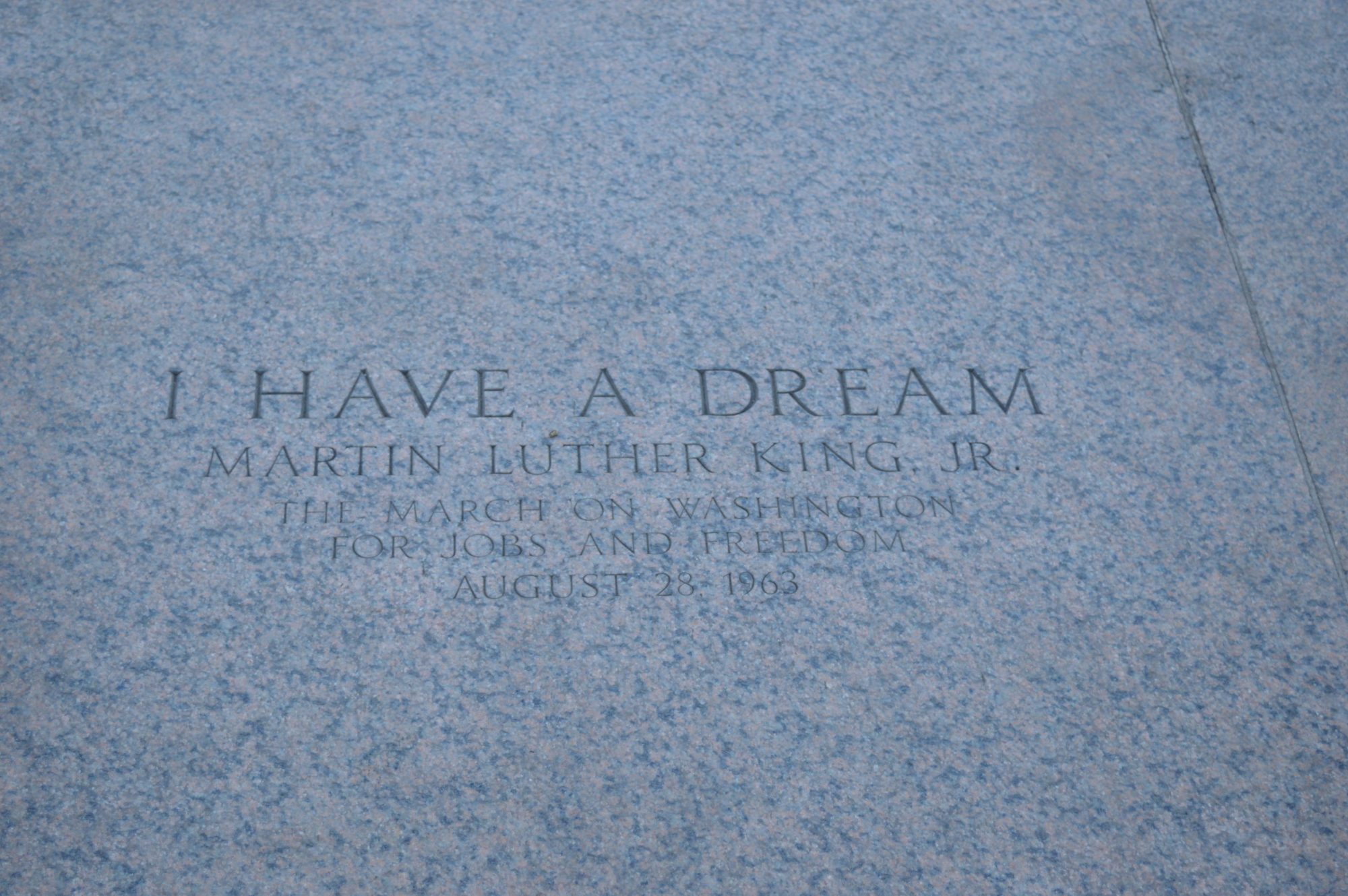 I have a dream at the Lincoln Memorial