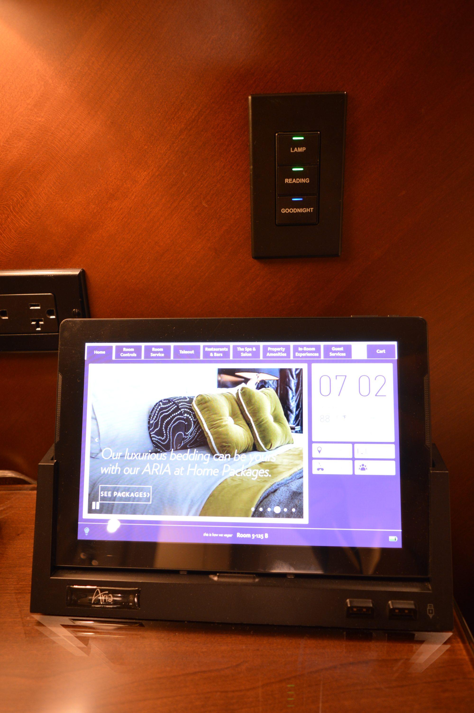 Aria Las Vegas Tower Suites Room Digital Screen