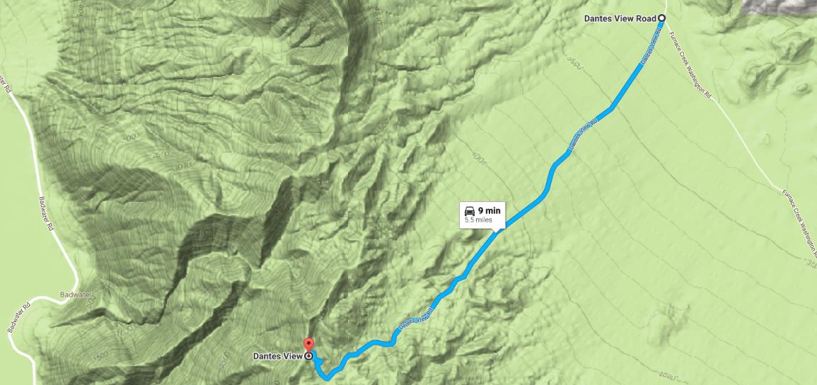Dantes View Road Death Valley