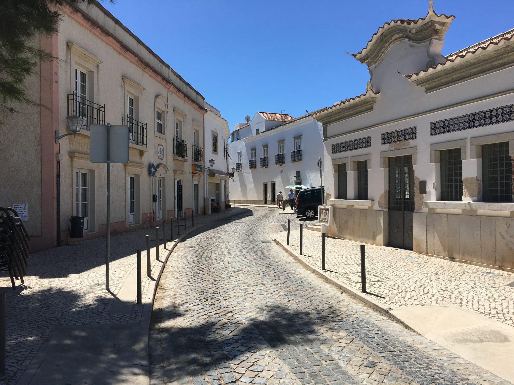 Cobblestone streets in Tavira