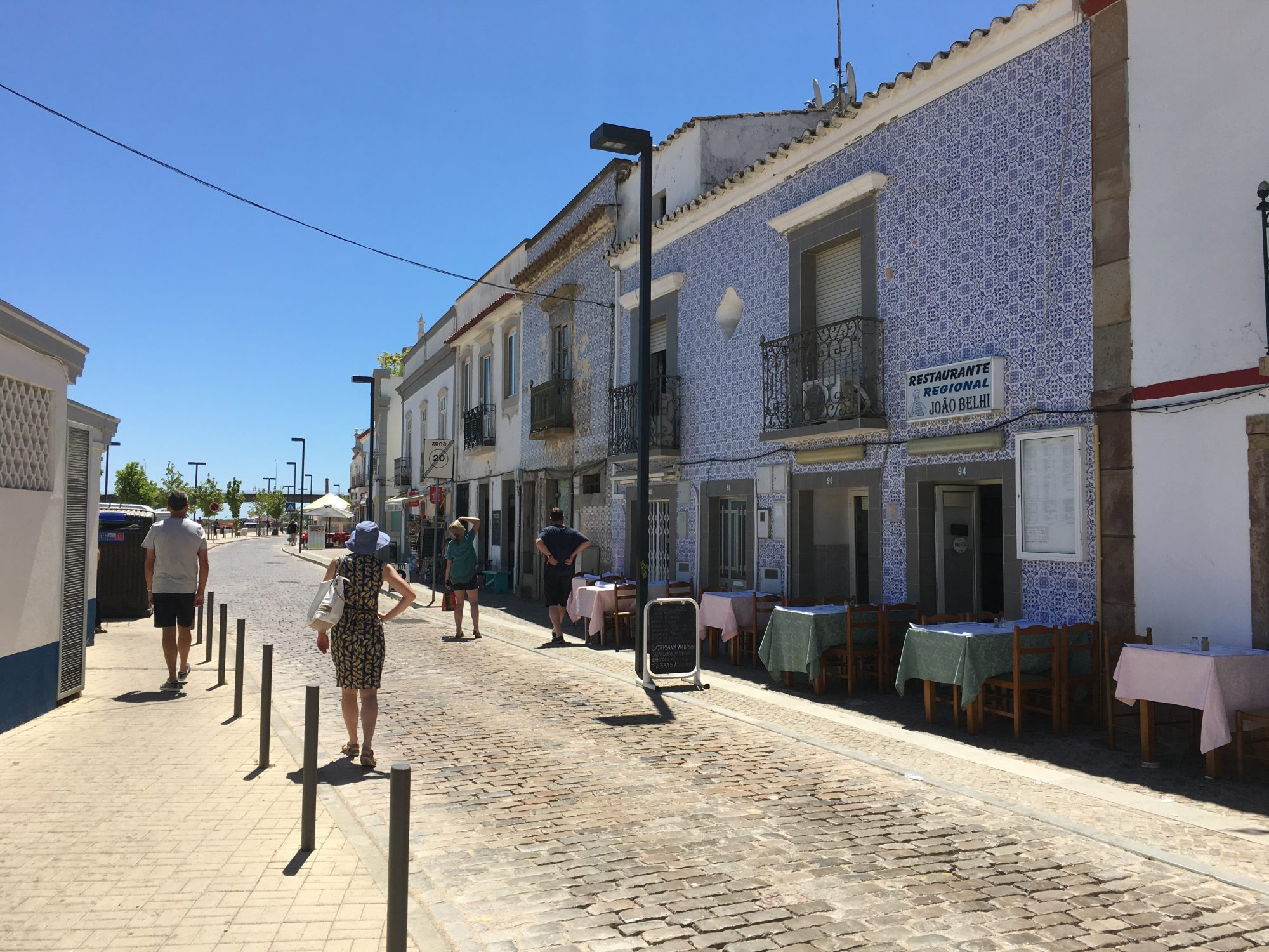 Tile fronted buildings, Tavira