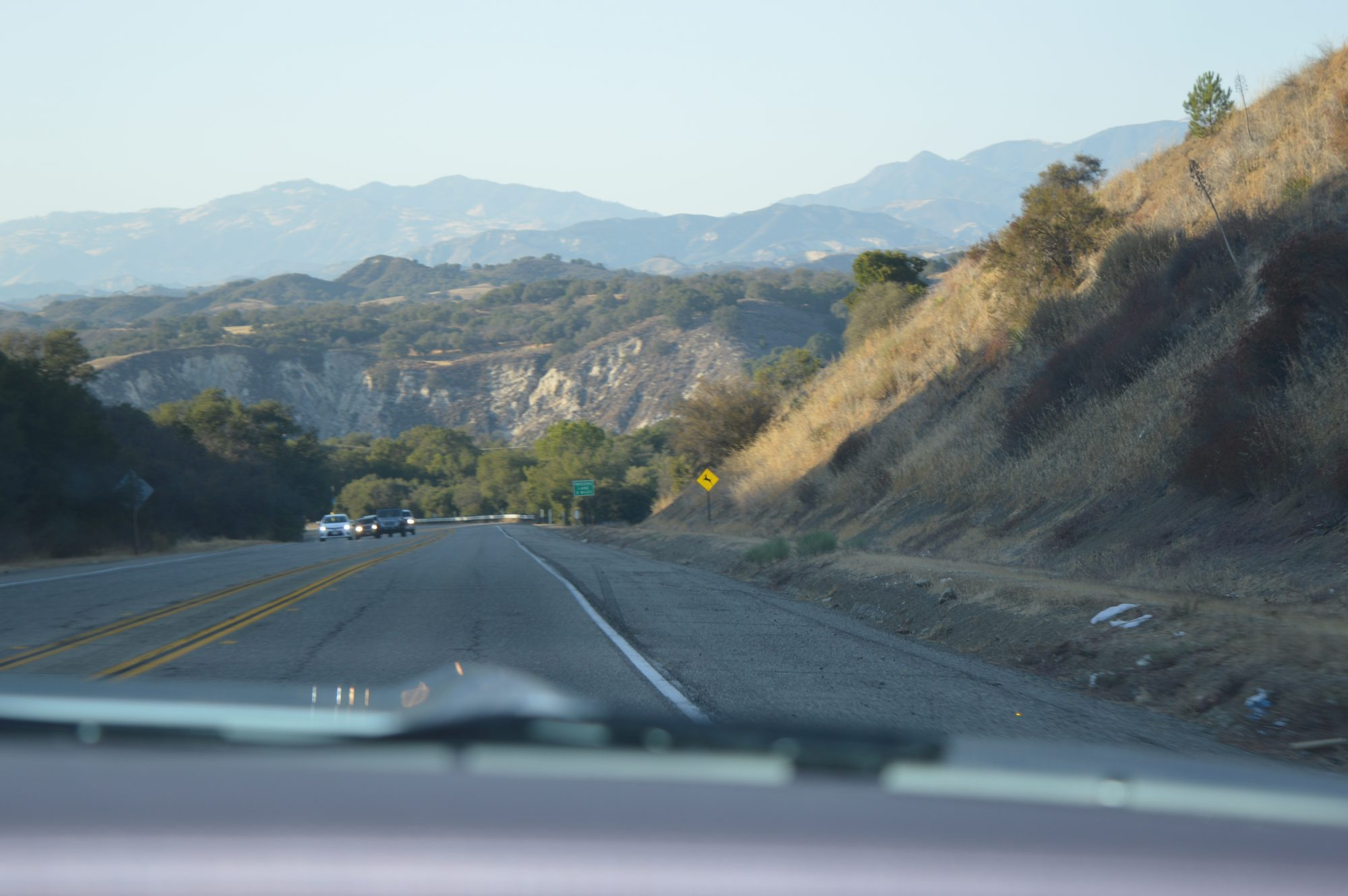 Driving to Cambria