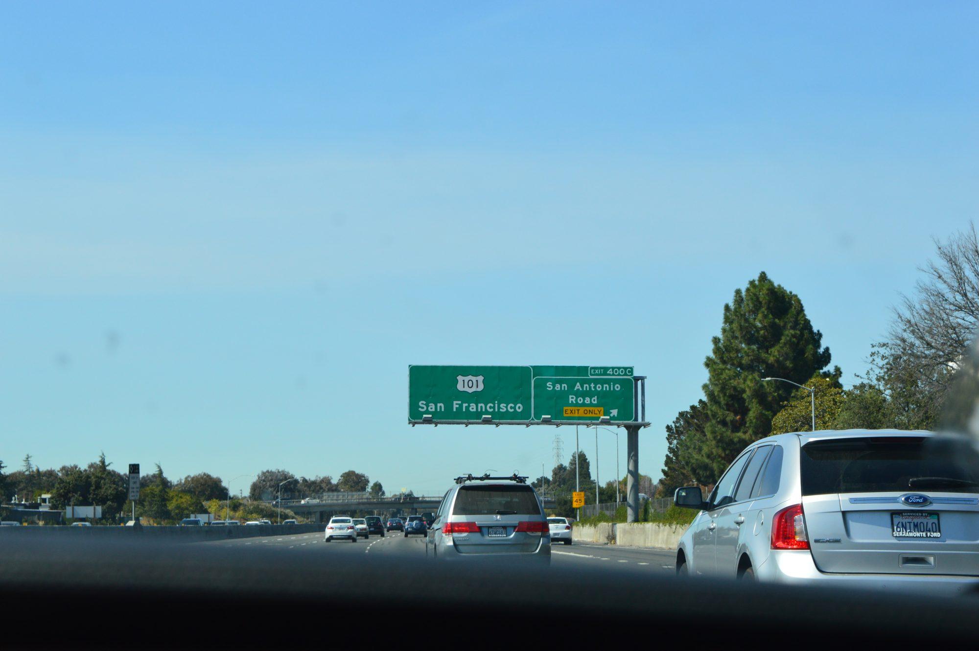 Route to San Francisco