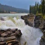 Visiting The Athabasca Falls In Jasper National Park