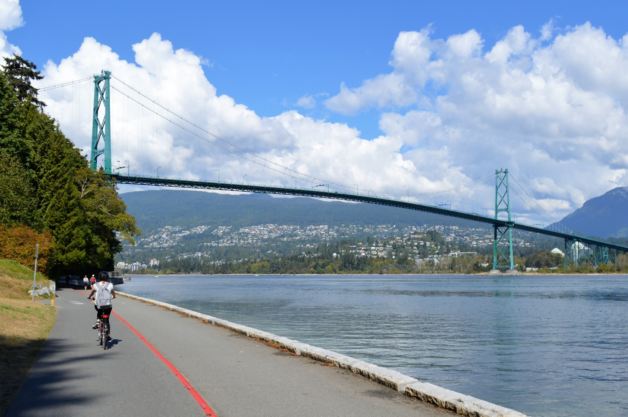 Cycling the sea wall in Vancouver