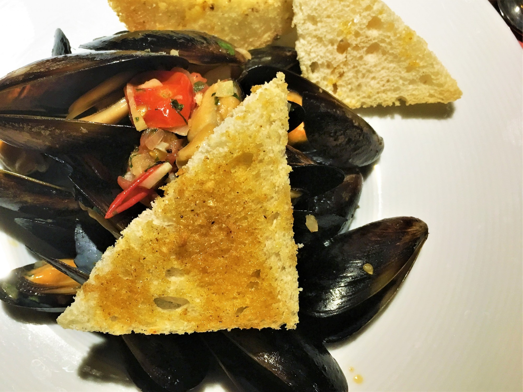 Mussels at Fab Fusion Restaurant Krakow
