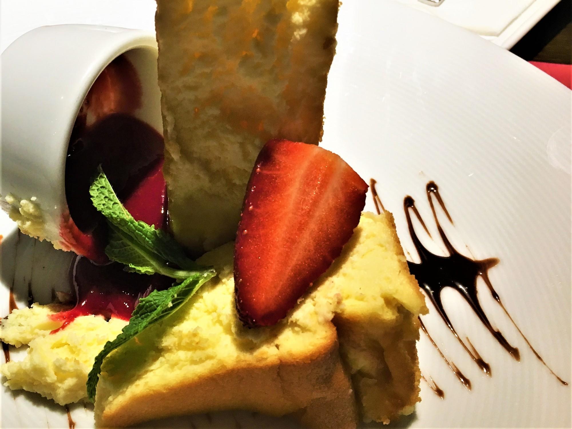 Desert at Fab Fusion Restaurant Krakow