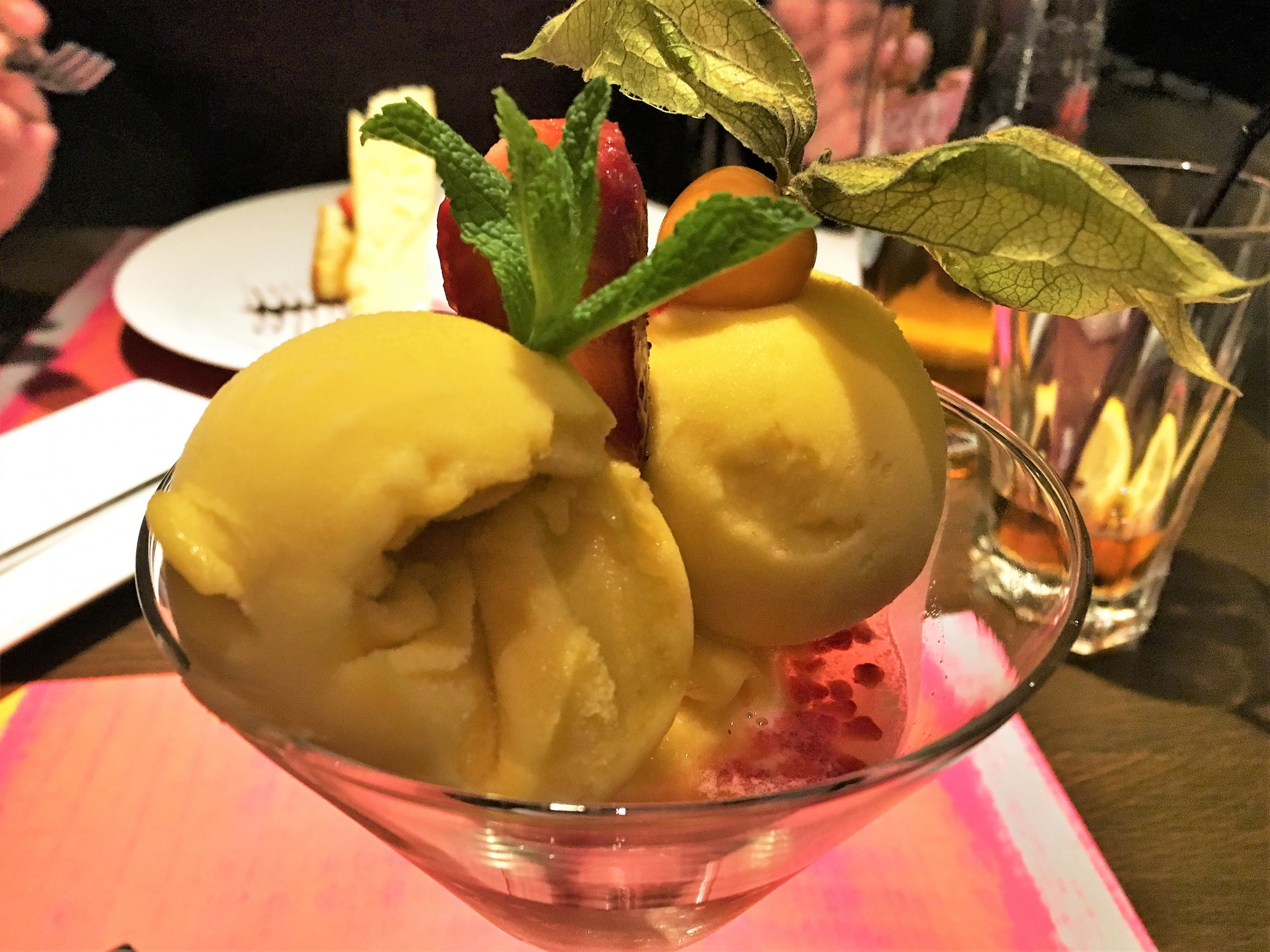 Dessert at Fab Fusion Restaurant Krakow