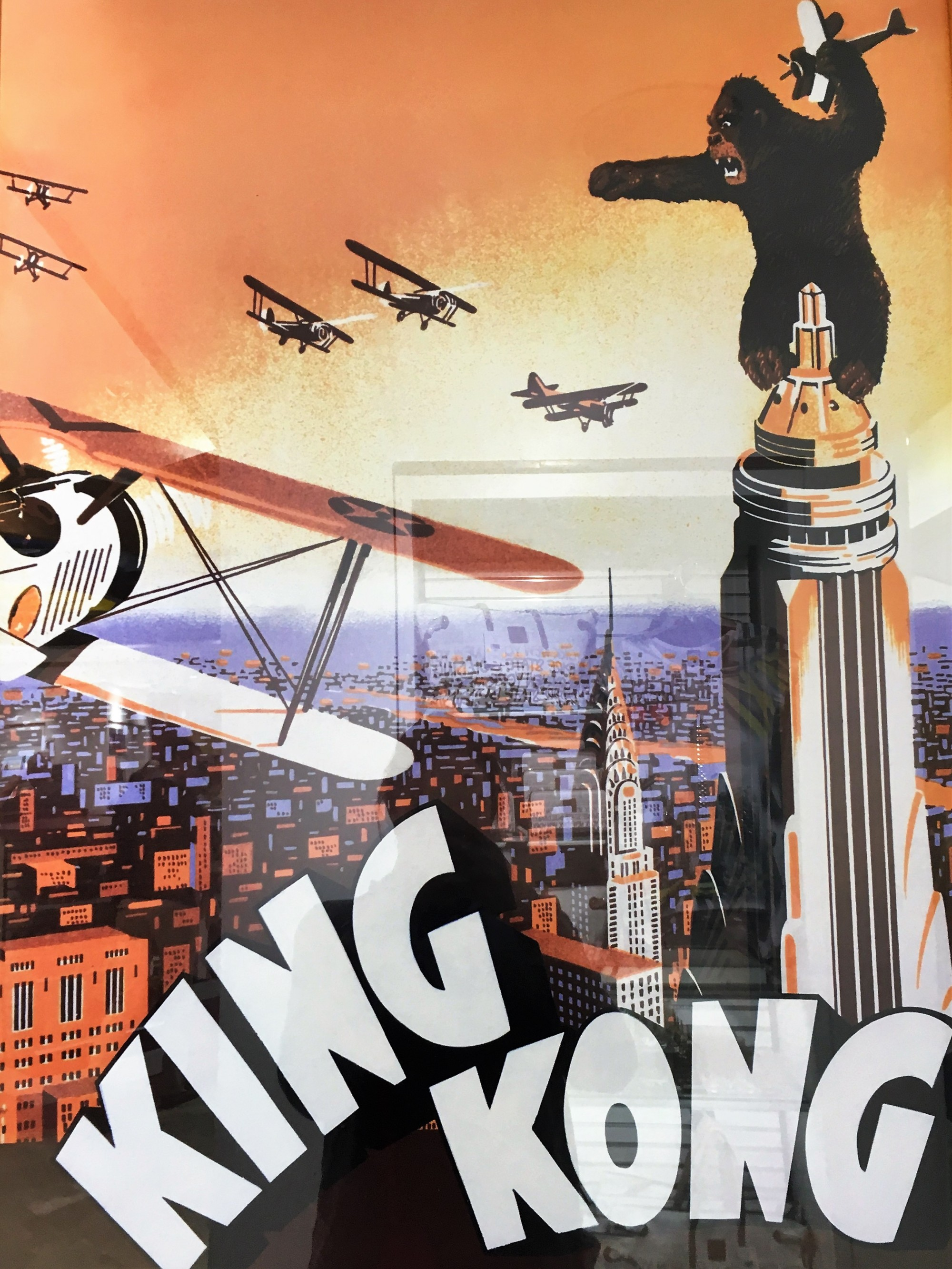 The Empire State Building King Kong Poster
