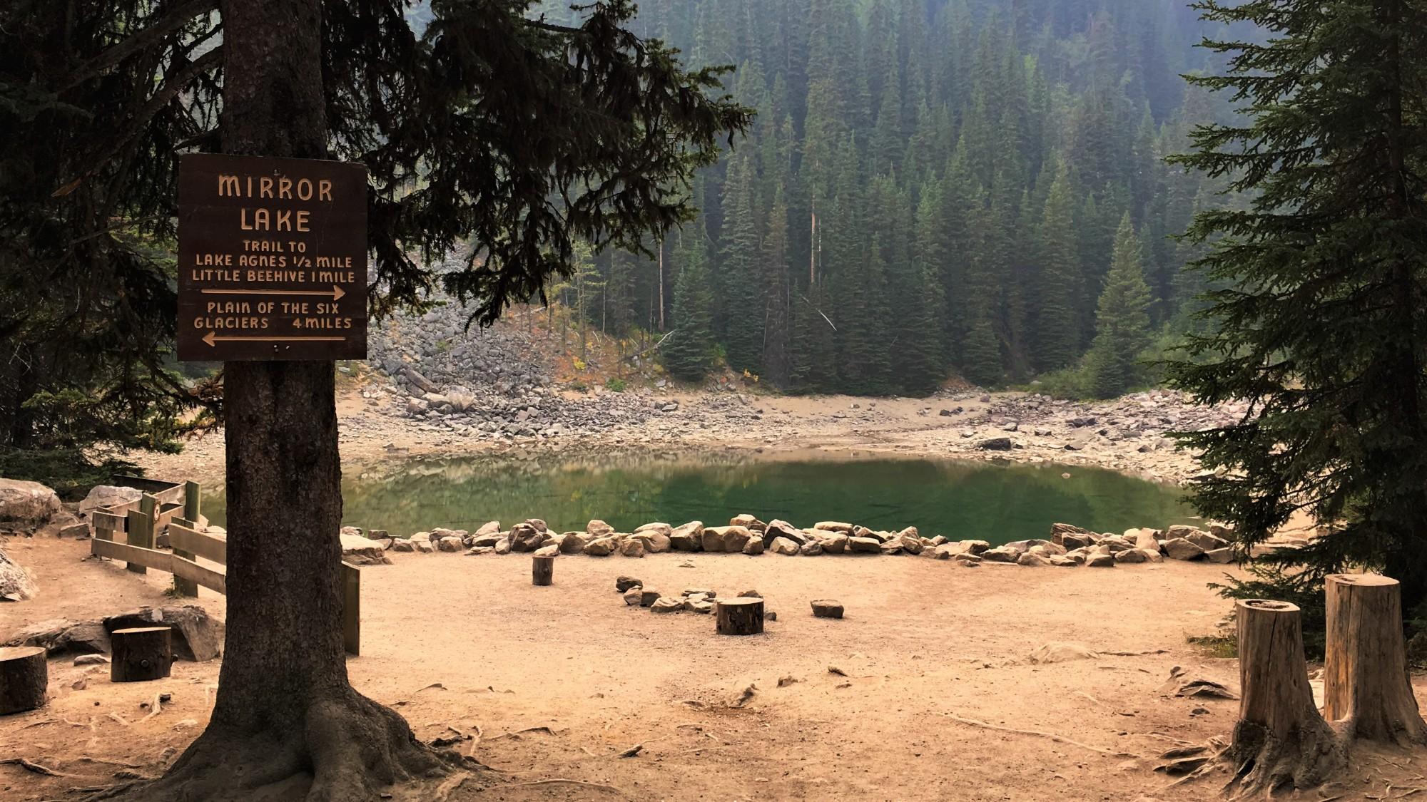 Mirror Lake on the Lake Agnes Trail