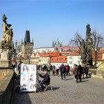 Crossing The Magnificent Charles Bridge In Prague