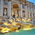 Experiencing The Beautiful Trevi Fountain In Rome