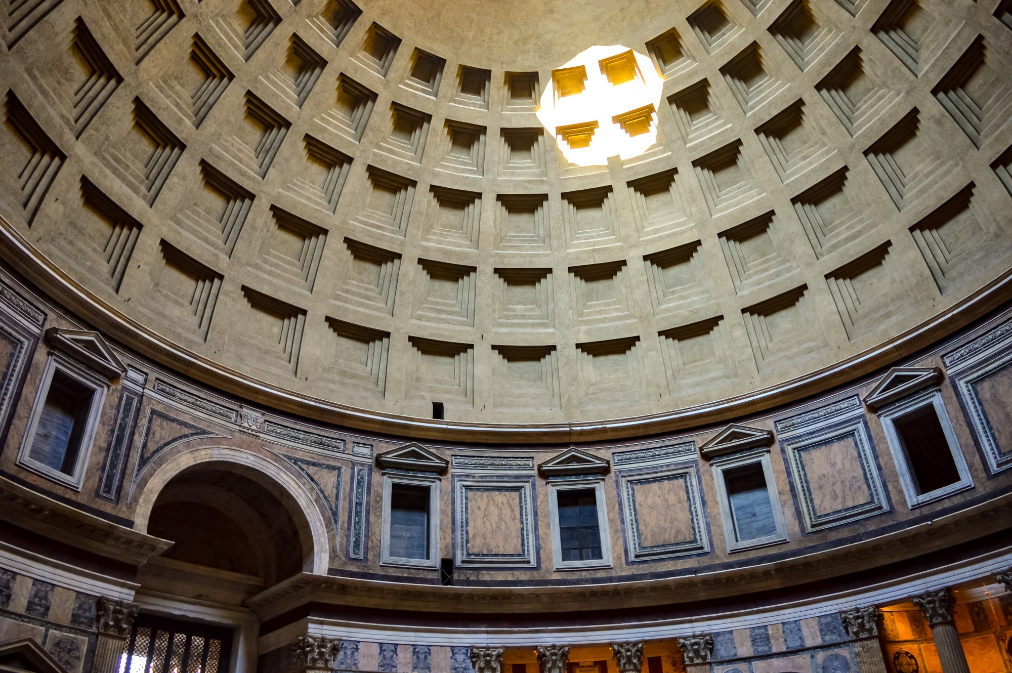 The dome at the Pantheon in Rome