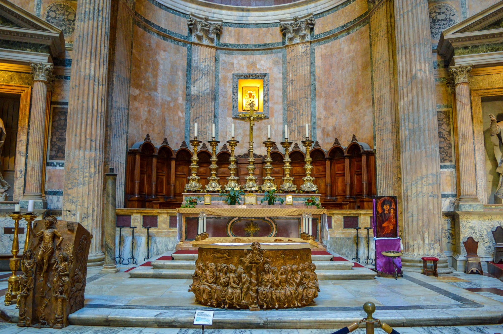 The alter at the Pantheon, Rome