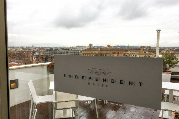 The Independent Hotel roof terrace