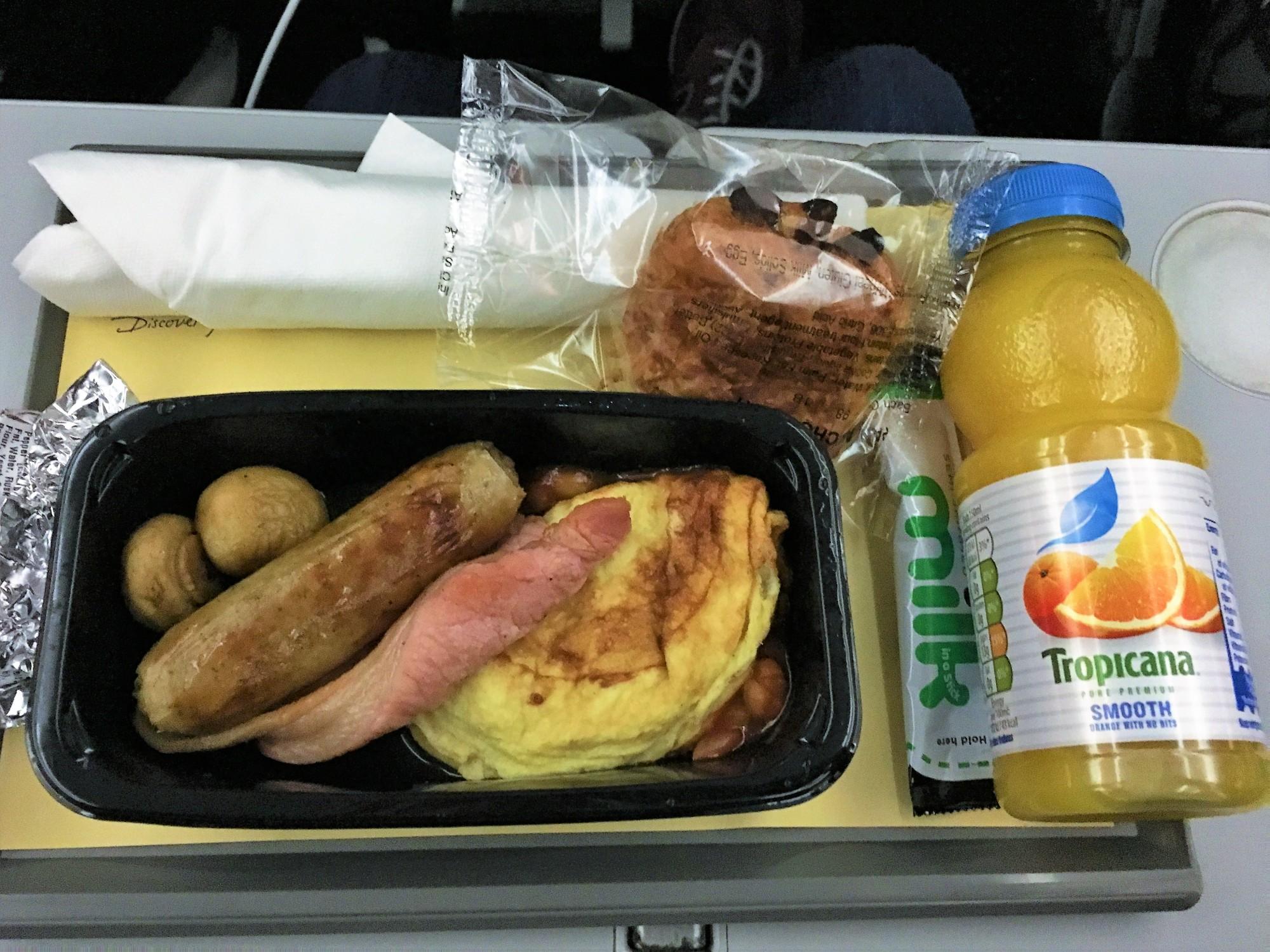Breakfast on in TUI Premium on the Dreamliner