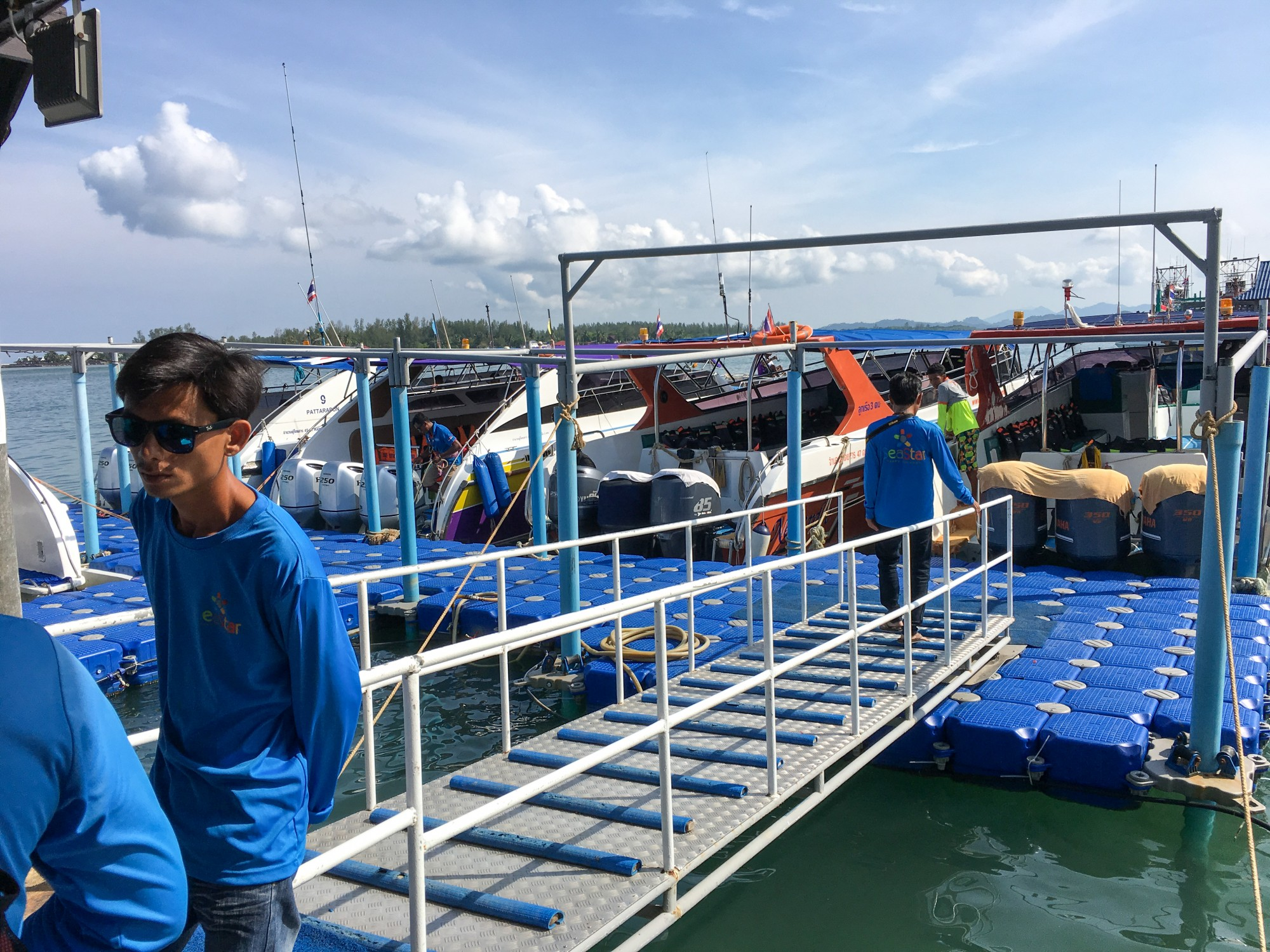 Boarding the boat for the Surin Islands with SeaStar