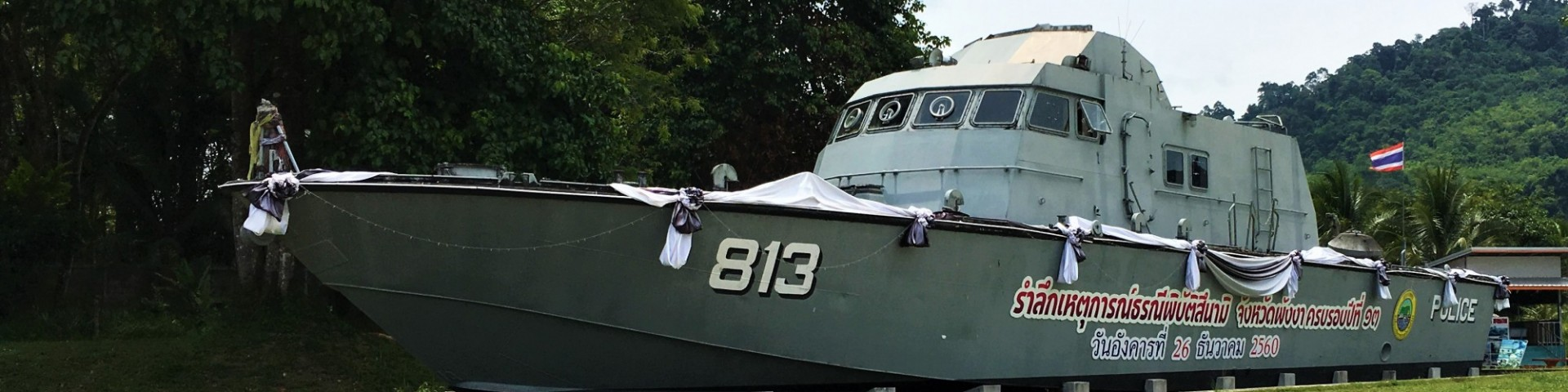 Police Boat 813, Khao Lak, Tsunami
