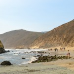 Walking Along Beautiful Pfeiffer Beach In Big Sur