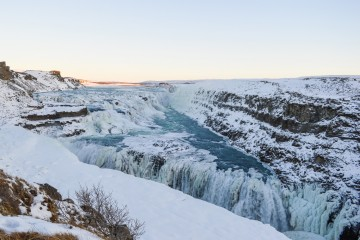 The Gullfoss Waterfall In Iceland