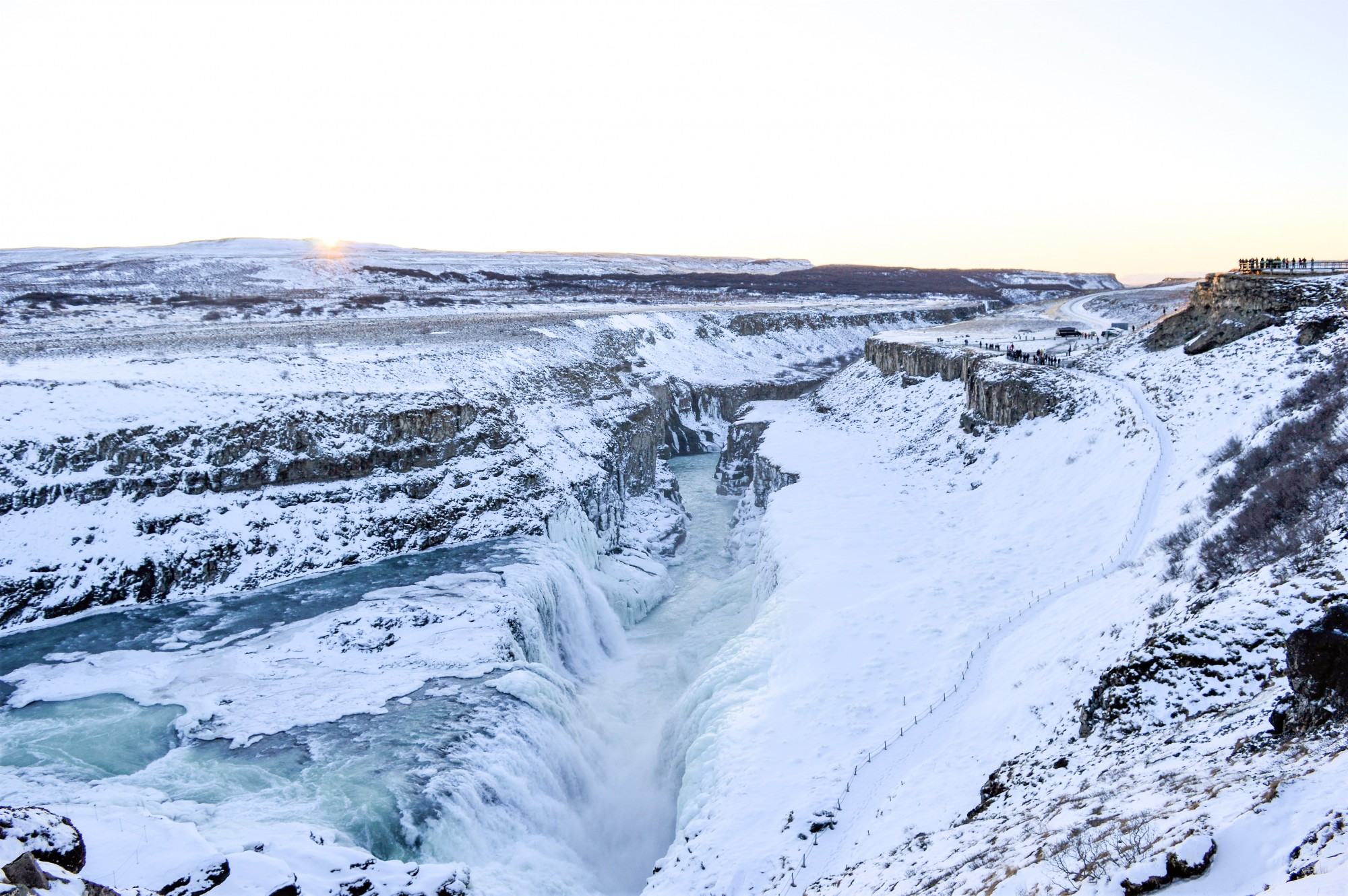 Lower Falls At The Gullfoss Waterfall in Iceland