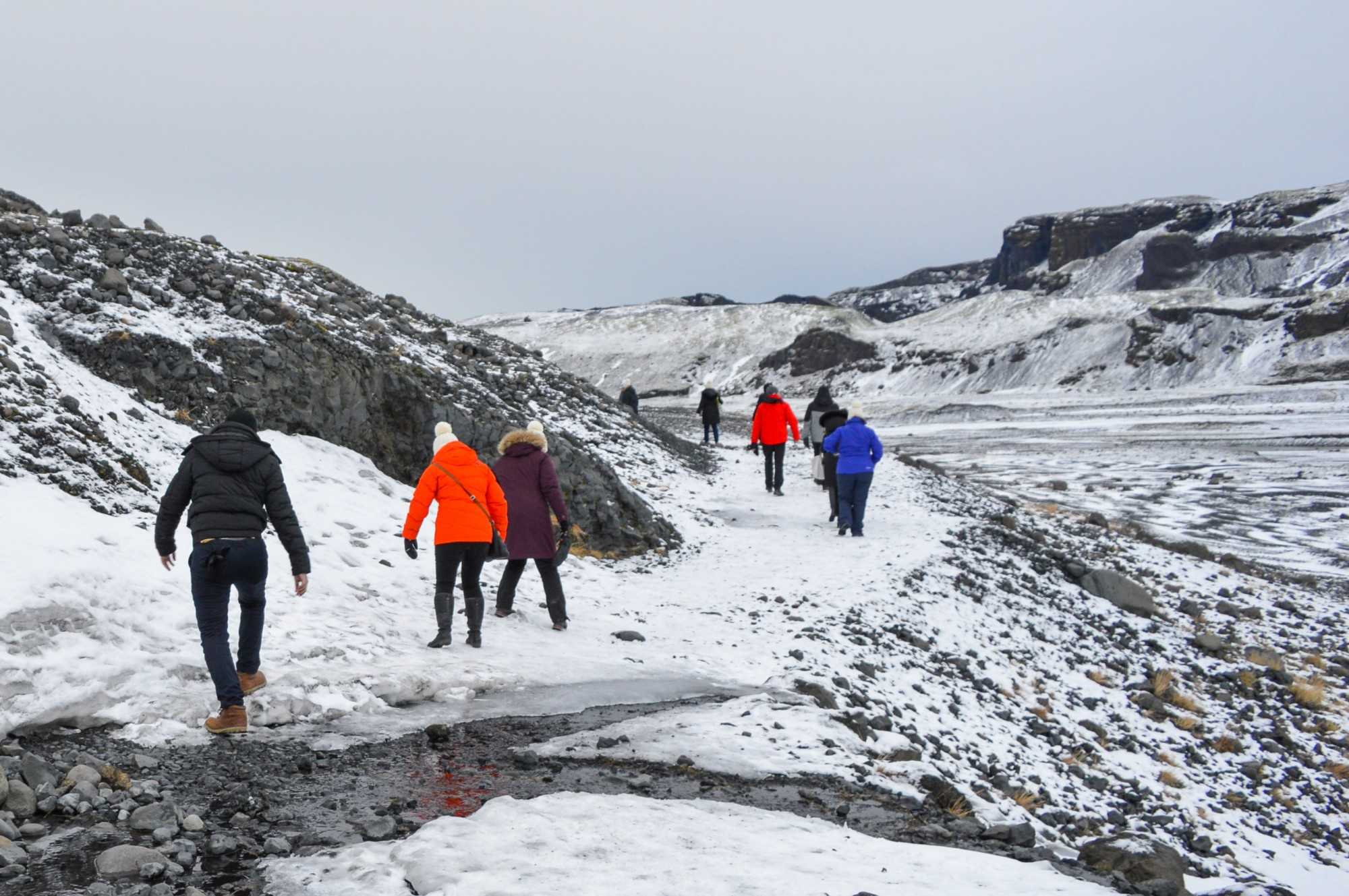 Sólheimajökull Glacier In Iceland