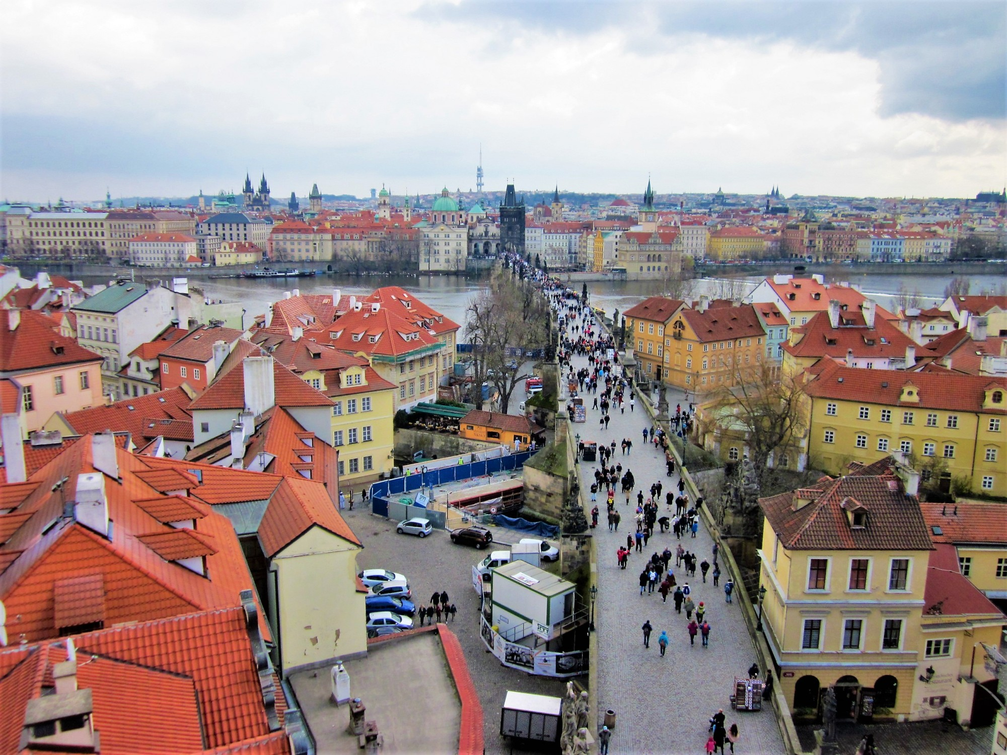 View from the Lesser Town Bridge Tower, Prague