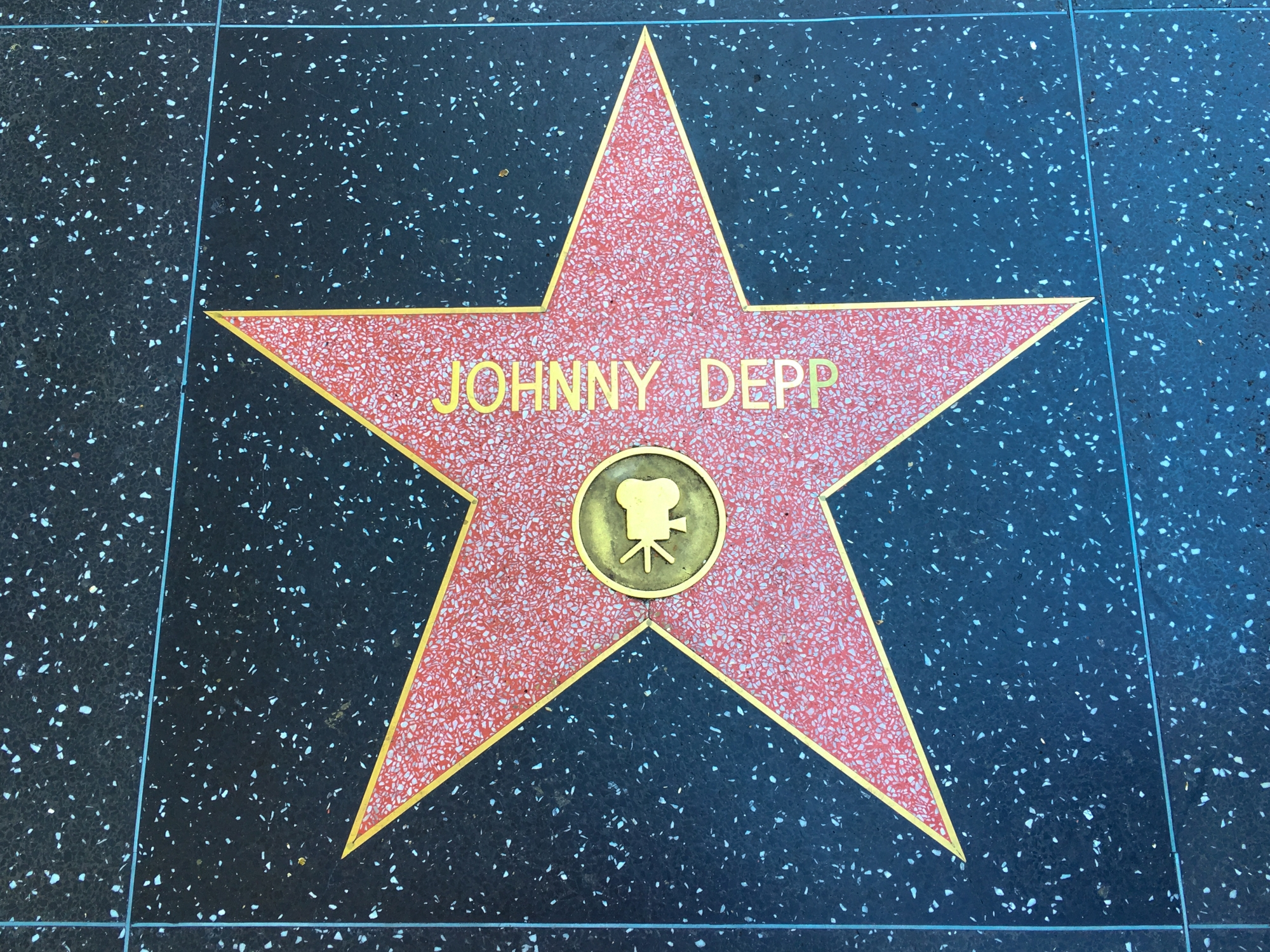 Johnny Depp star, Hollywood Walk of Fame