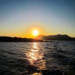 Watching The Stunning Sunset In Santorini