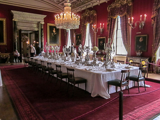 Chatsworth House dining room