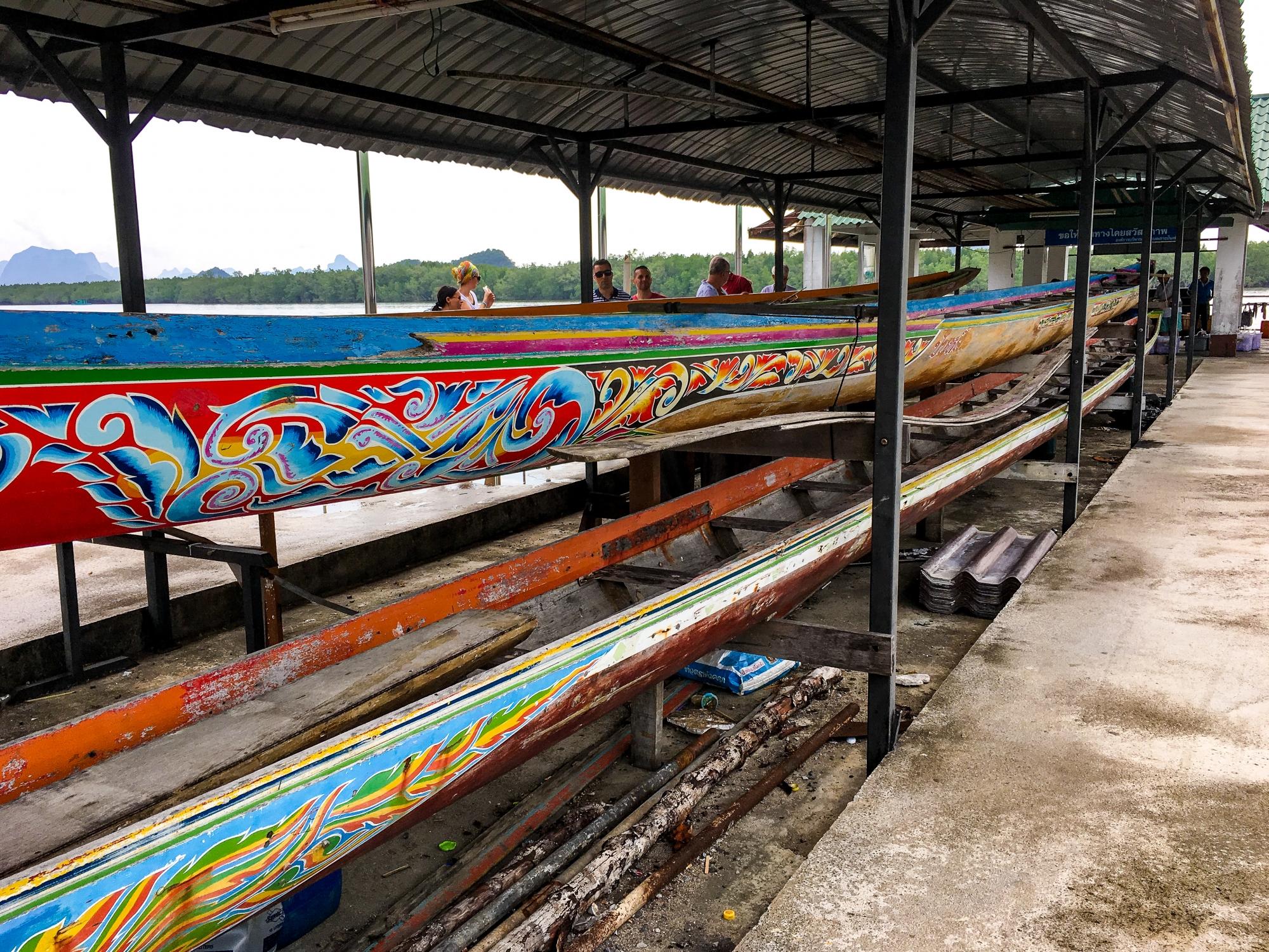 Boats in Panyee Village on Koh Panyee Island