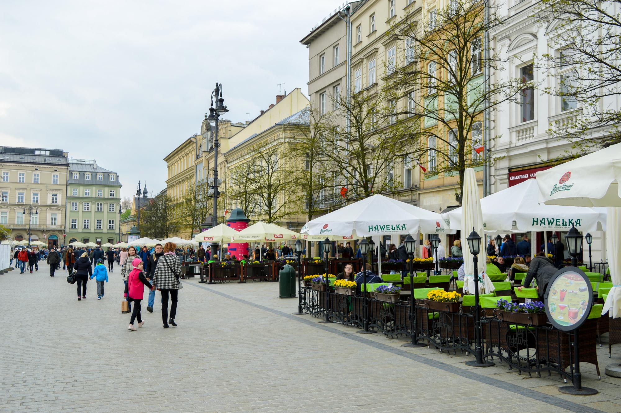 Restaurants around Main Square, Krakow