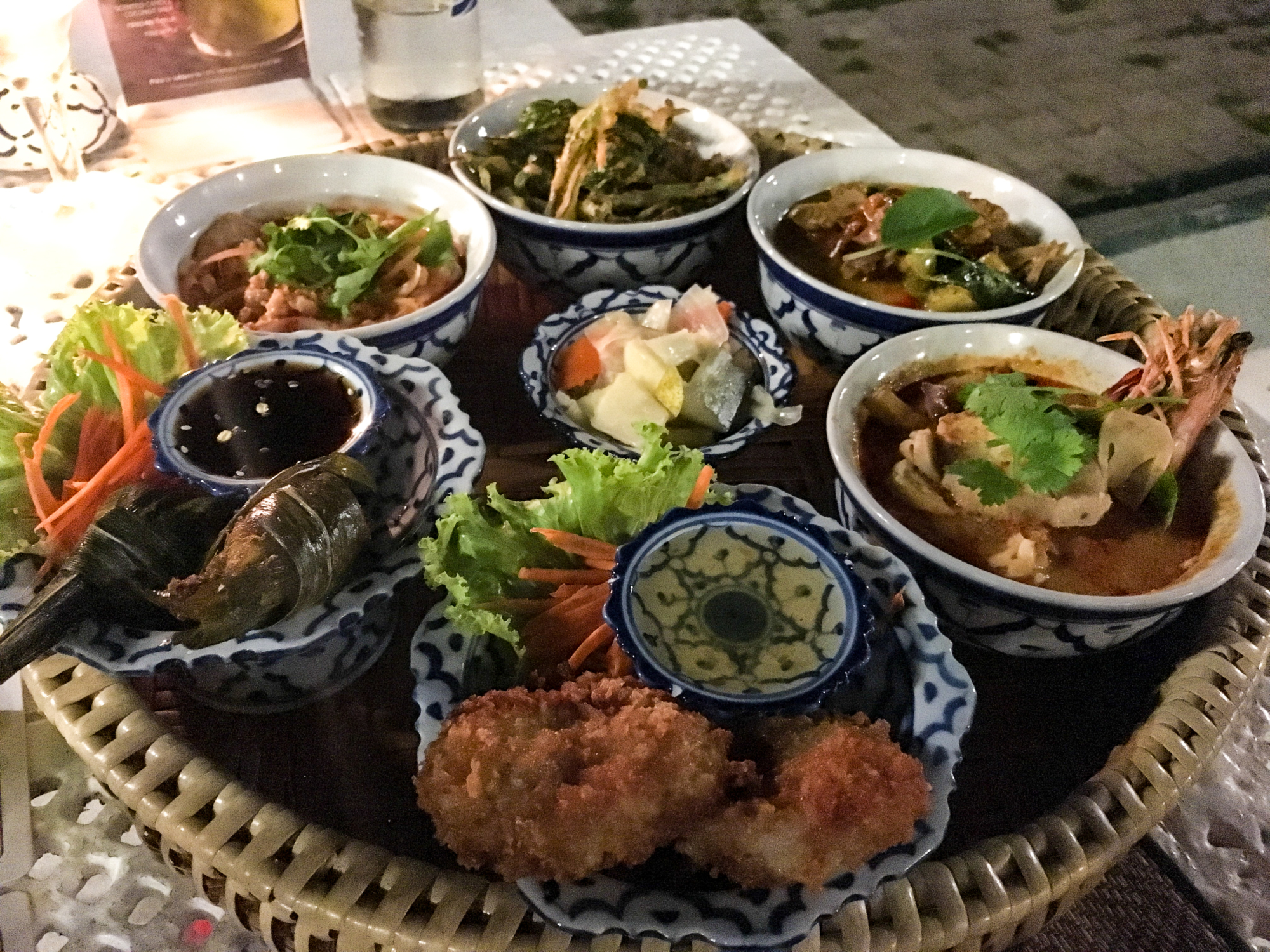 Thai food at Panwa House at Cape Panwa Hotel, Phuket Thailand