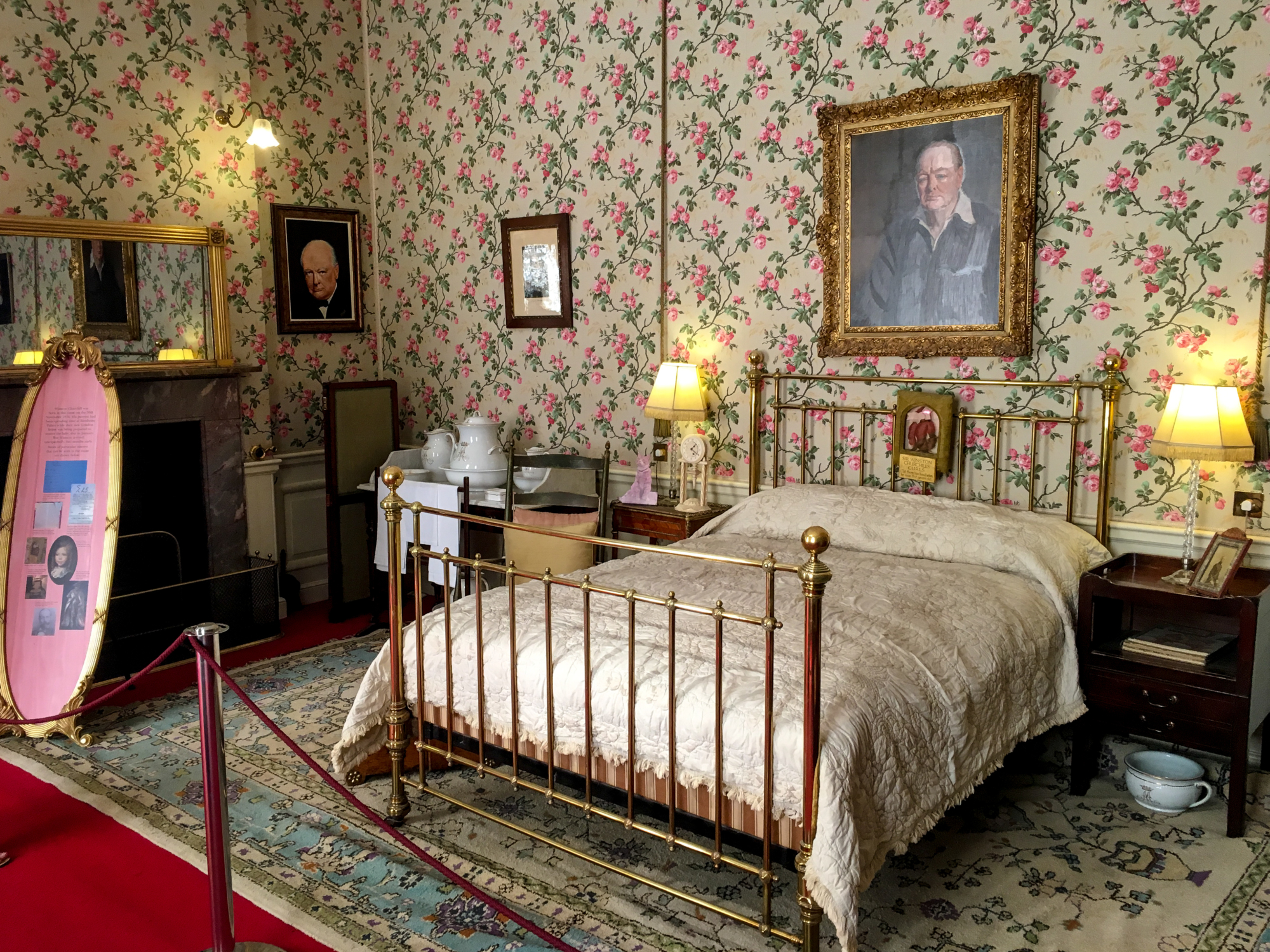 Sir Winston Churchill's Birth Room at Blenheim Palace