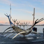 Visiting The Sun Voyager Viking Boat Sculpture in Reykjavik