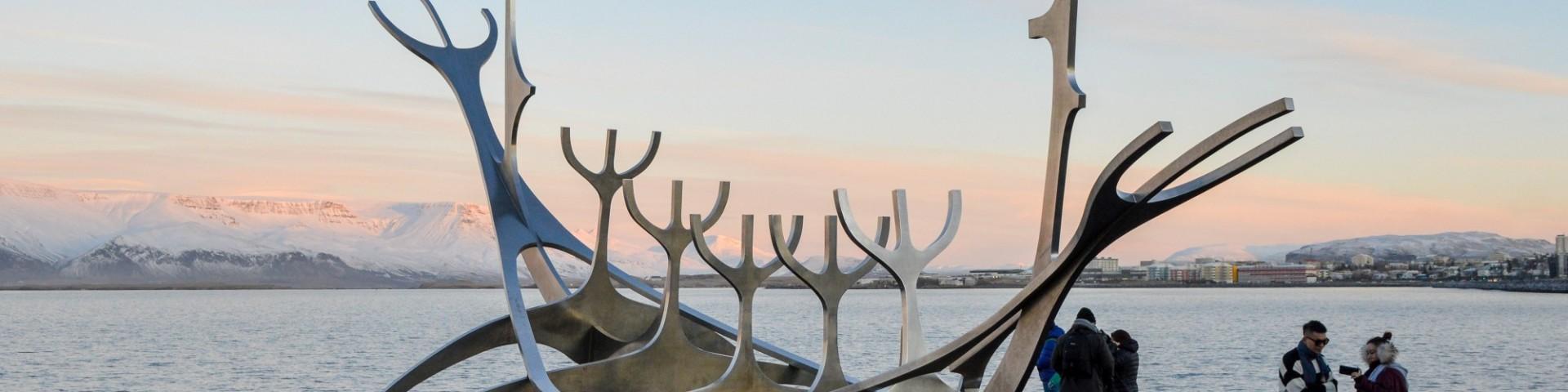 The Sun Voyager Viking Boat Sculpture, Reykjavik