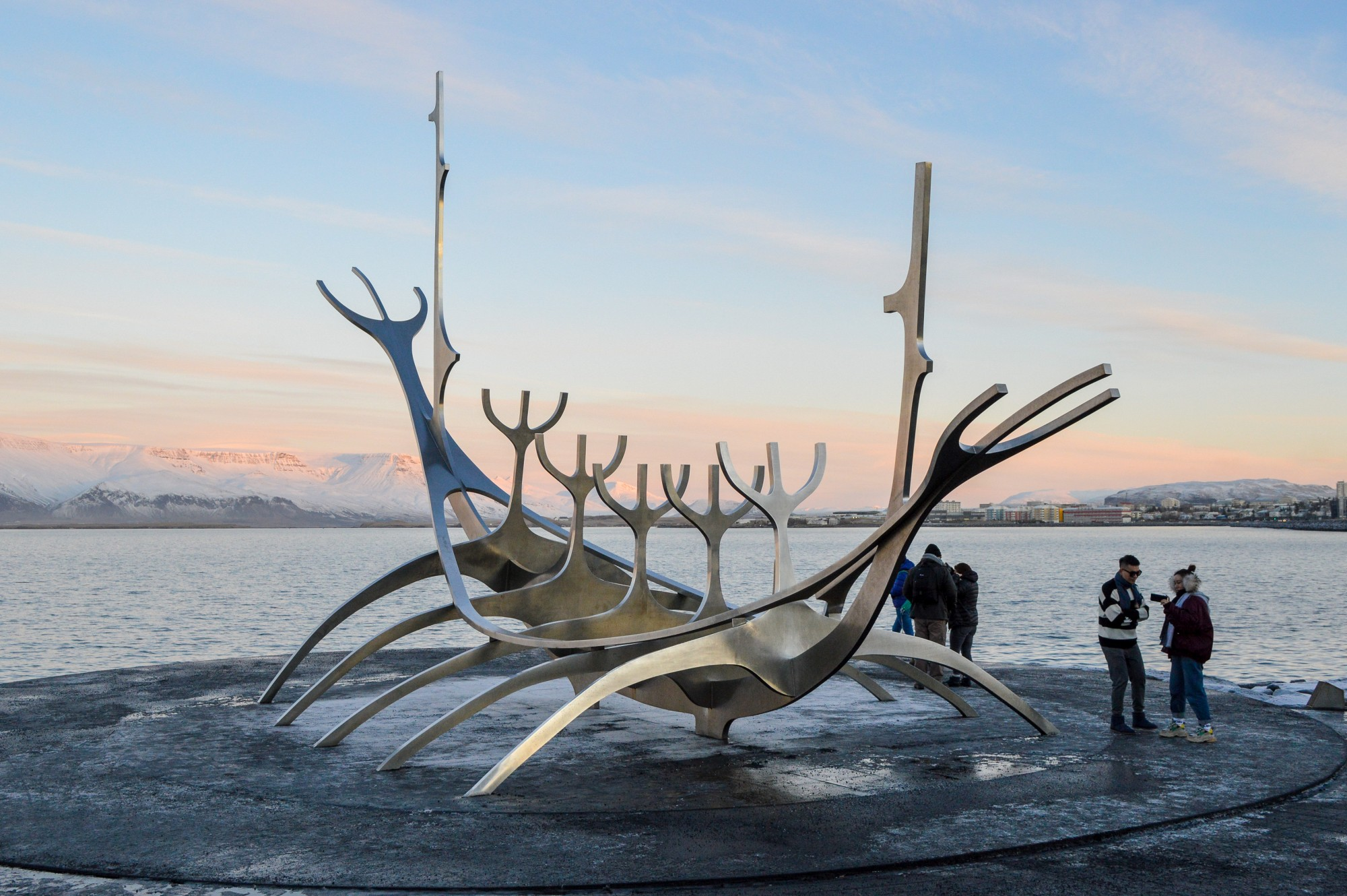 Visiting The Sun Voyager Viking Boat Sculpture in Reykjavik