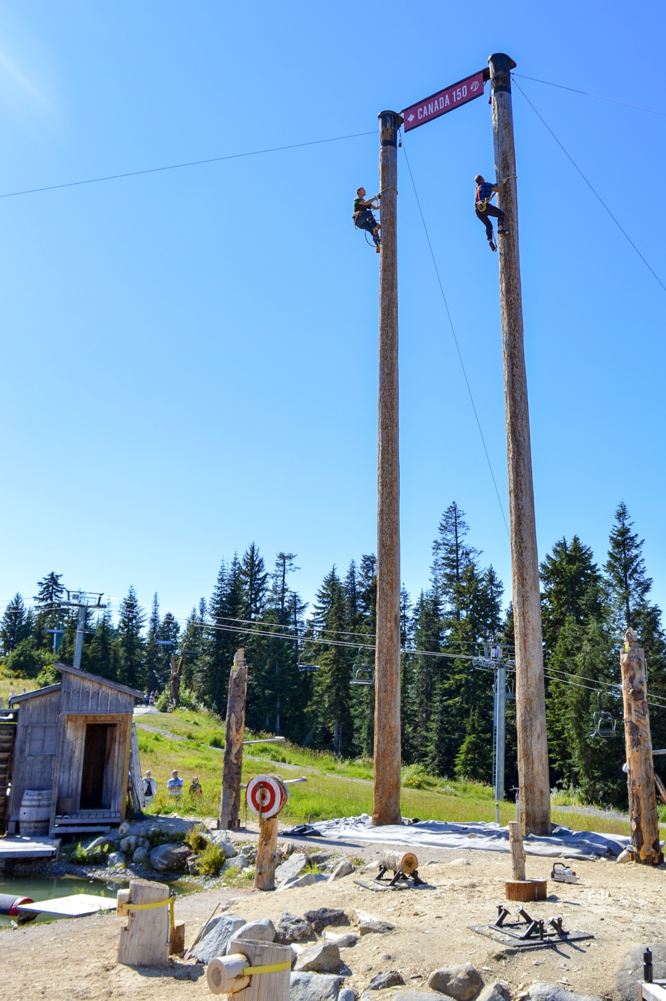 World Famous Lumberjack Show Grouse Mountain Vancouver