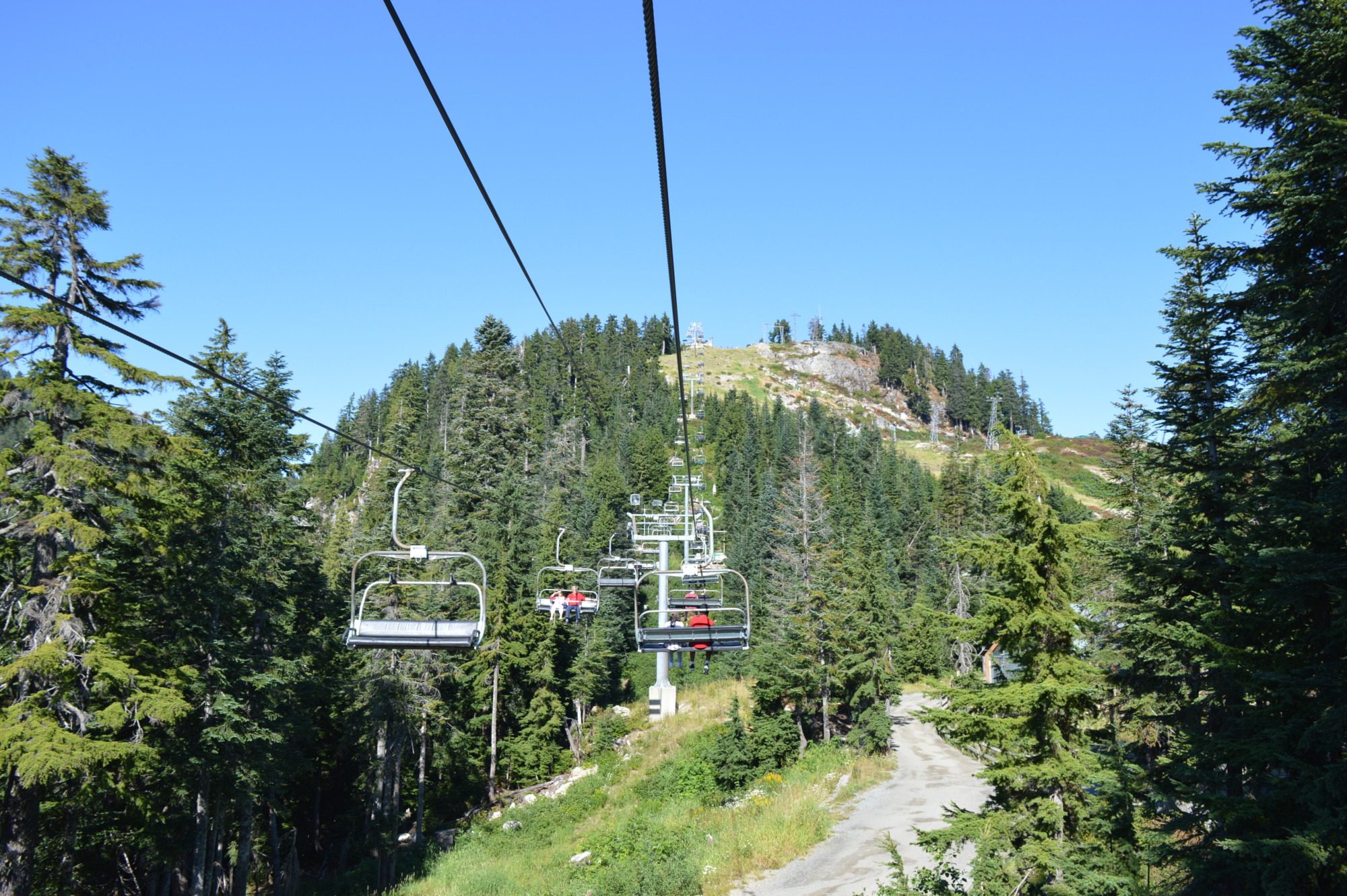 Chair lift to the Eye of the Wind at Grouse Mountain