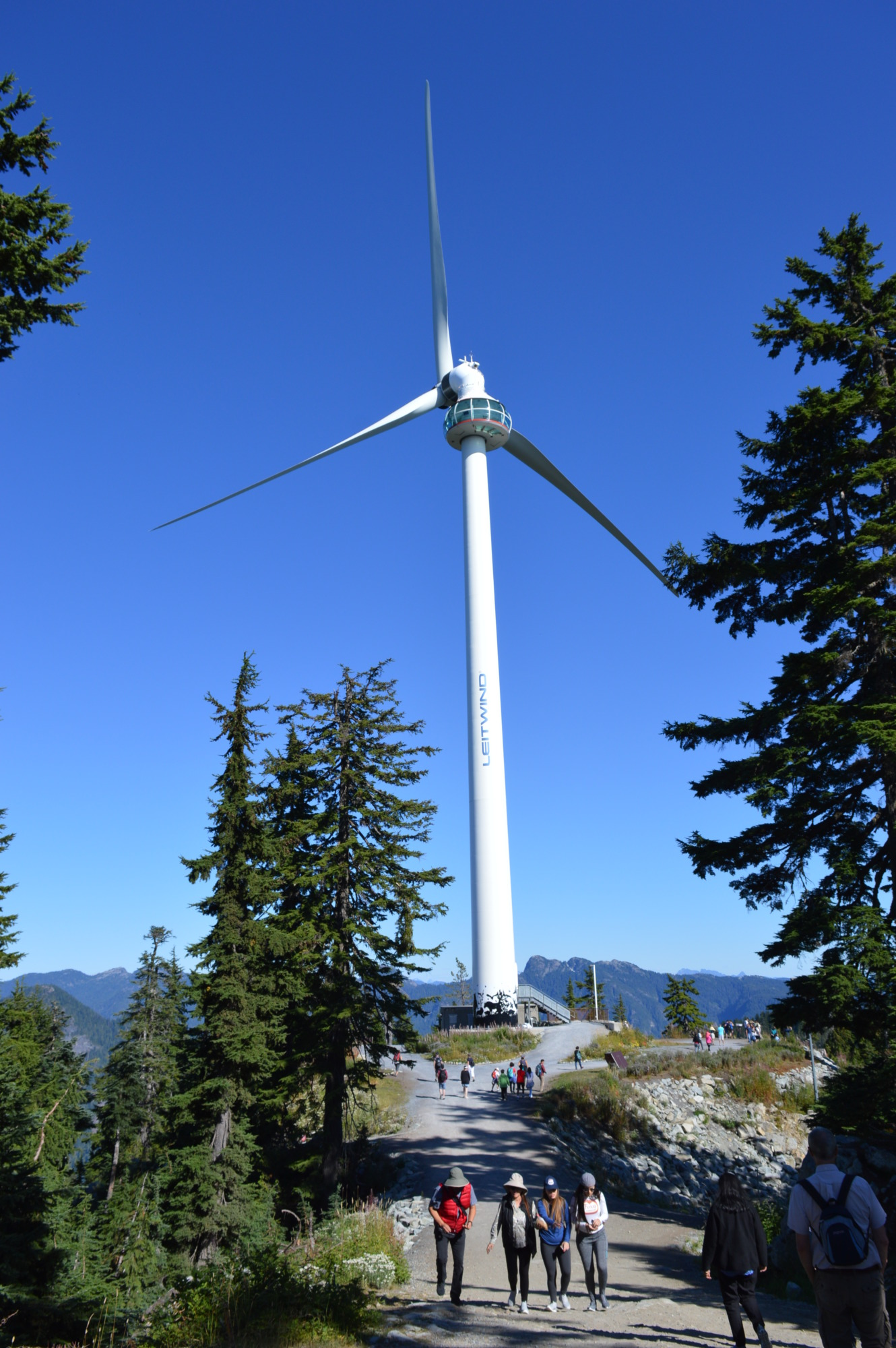 Eye of the wind at Grouse Mountain