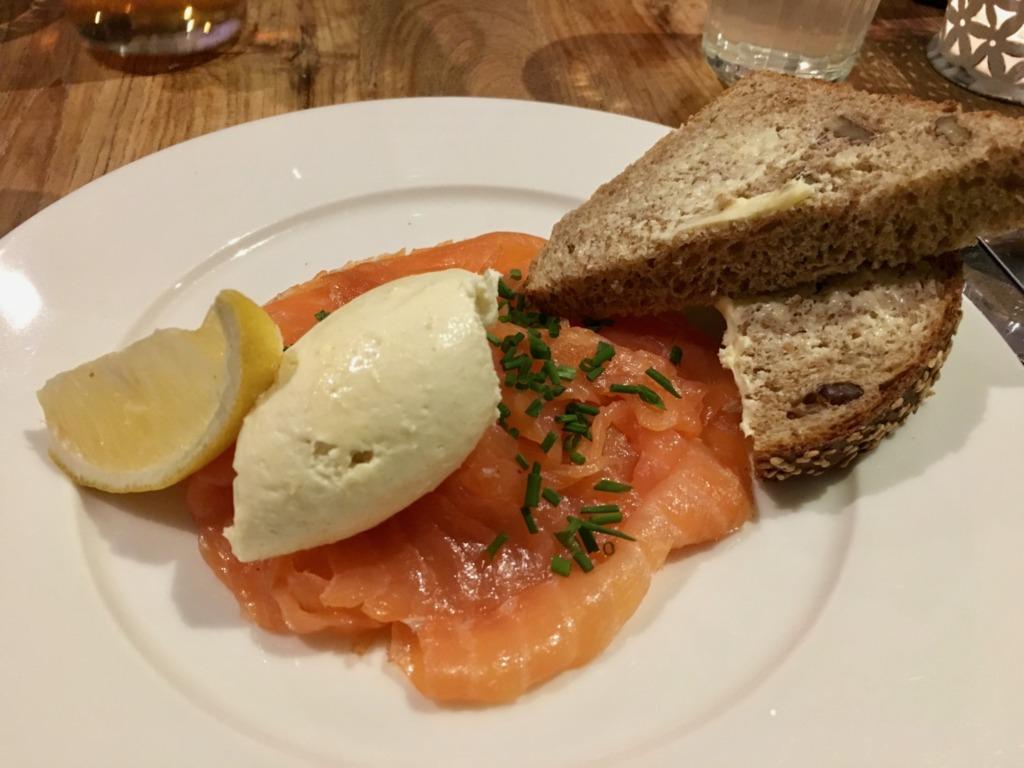 Smoked Salmon at Rick Stein Fish and Shellfish Porthleven Cornwall