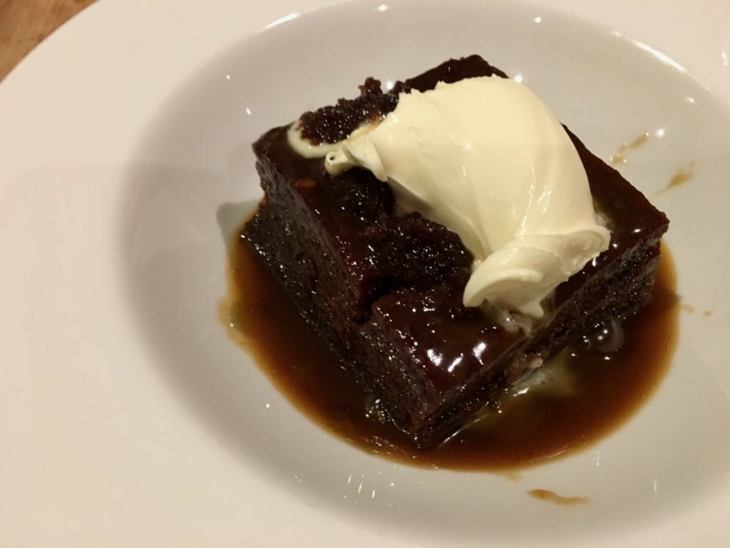 Sticky Toffee Pudding at Rick Stein Fish and Shellfish Porthleven Cornwall