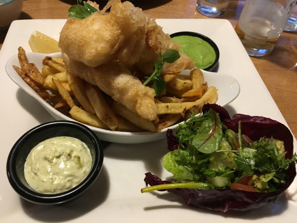 Fish and Chips at Kota Kai Porthleven, Cornwall